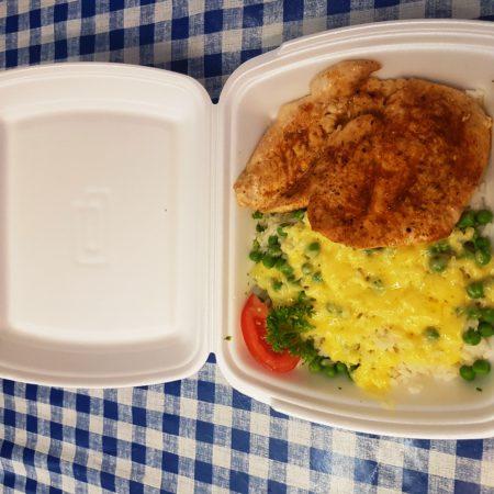 3 csirkemell roston rizi bizivel