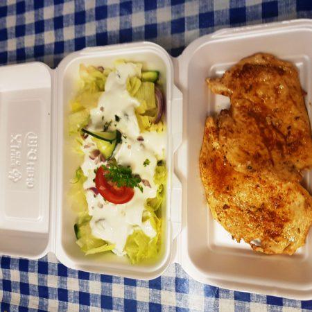 3 csirkemell roston salátával